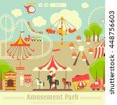 amusement park. summer holiday... | Shutterstock .eps vector #448756603