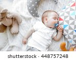 cute sleeping baby boy | Shutterstock . vector #448757248