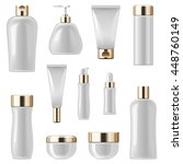 vector cosmetic packaging icons ... | Shutterstock .eps vector #448760149