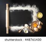flat lay baking utensils and... | Shutterstock . vector #448761430
