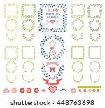 floral wreaths frame set... | Shutterstock .eps vector #448763698