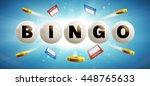 text on lottery balls with... | Shutterstock .eps vector #448765633