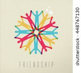 friendship diversity group... | Shutterstock . vector #448767130