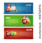 lottery banners with realistic... | Shutterstock .eps vector #448768996