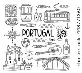 portugal elements and symbols.... | Shutterstock .eps vector #448771360