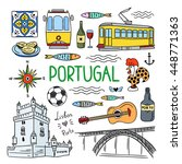 portugal elements and symbols.... | Shutterstock .eps vector #448771363