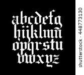 blackletter calligraphy font | Shutterstock .eps vector #448773130