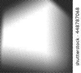 vector halftone dots. black... | Shutterstock .eps vector #448787068