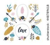 vector tribal elements. arrows  ... | Shutterstock .eps vector #448789618