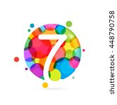 Number Seven Logo With Rainbow...