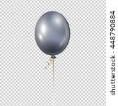Silver Balloon. Transparent...