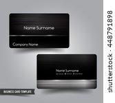business card template set 53... | Shutterstock .eps vector #448791898