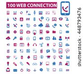 web connection icons | Shutterstock .eps vector #448793476