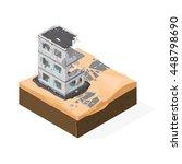 isometric vector illustration... | Shutterstock .eps vector #448798690