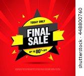 final sale banner. special...   Shutterstock .eps vector #448800760