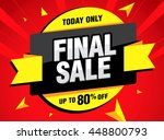 final sale banner. special... | Shutterstock .eps vector #448800793