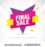 final sale banner. special... | Shutterstock .eps vector #448800844