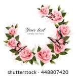holiday background with beauty... | Shutterstock .eps vector #448807420