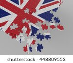 england uk wavy flag with grey... | Shutterstock . vector #448809553