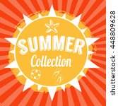 typographic summer collection... | Shutterstock .eps vector #448809628