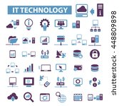 it technology icons | Shutterstock .eps vector #448809898