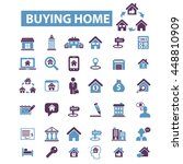 buying home icons | Shutterstock .eps vector #448810909