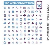 web connection icons | Shutterstock .eps vector #448811230
