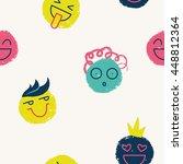 smile bright pattern. | Shutterstock .eps vector #448812364