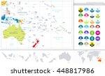 australia and oceania detailed... | Shutterstock .eps vector #448817986