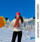 sparkling miss shopping...   Shutterstock . vector #448823083