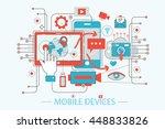 modern flat thin line design... | Shutterstock .eps vector #448833826