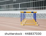 Barriers At Stadium For A Run...
