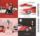 street car public roads racing... | Shutterstock .eps vector #448847230