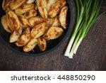 delicious hot potatoes.organic... | Shutterstock . vector #448850290