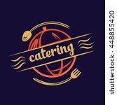 vector logo for catering... | Shutterstock .eps vector #448855420