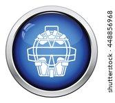 baseball face protector icon....   Shutterstock .eps vector #448856968