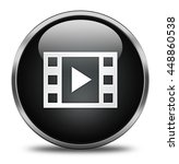 play button isolated on white...   Shutterstock . vector #448860538