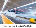 High Speed Train In Modern...
