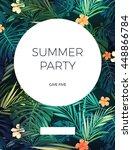 bright hawaiian design with... | Shutterstock .eps vector #448866784