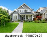 luxury house with beautiful... | Shutterstock . vector #448870624