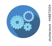 flat icon gears for web pages ... | Shutterstock .eps vector #448873324