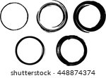 set of vector grunge circle... | Shutterstock .eps vector #448874374