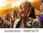 stadium soccer fans emotions... | Shutterstock . vector #448876579