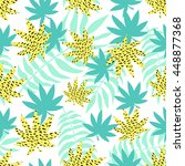 seamless summer pattern. vector ... | Shutterstock .eps vector #448877368