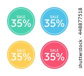 price badge icon. discount  35  ... | Shutterstock .eps vector #448877518