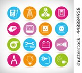 electricity icons | Shutterstock .eps vector #448884928