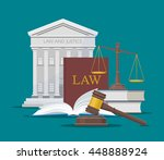 law and justice concept vector... | Shutterstock .eps vector #448888924