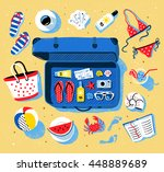 summer seaside vacation vector... | Shutterstock .eps vector #448889689