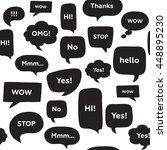 seamless pattern with speech... | Shutterstock .eps vector #448895230