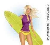 vector illustration of sporty... | Shutterstock .eps vector #448902010